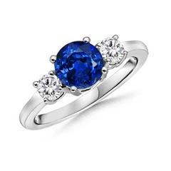 The Classic Three-Stone Sapphire Ring