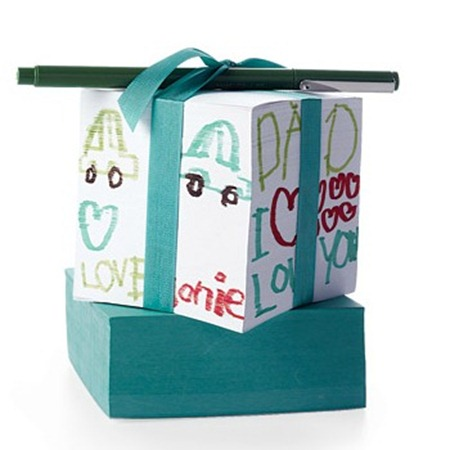 Decorated Paper Cube from Martha Stewart