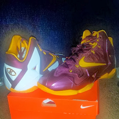 nike lebron 11 pe ctk away 1 01 A Blurry Look at Nike LeBron XI (11) CTK Away PE