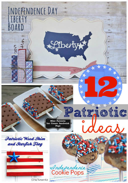 12 Patriotic Ideas ~ features at #gingersnapcrafts #linkparty #4thofJuly #patriotic_thumb[1]
