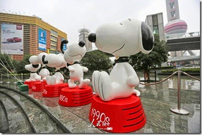 Snoopy at Pearl Square , IFC Mall, LuJiaZui, Shanghai 史努比。上海 16