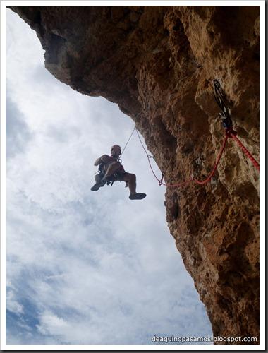 Via Costa Blanca 250m 6c  (6b A0 Oblig) (Peon de Ifach, Alicante) (Isra) 2475