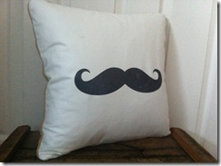 Mustache Pillow