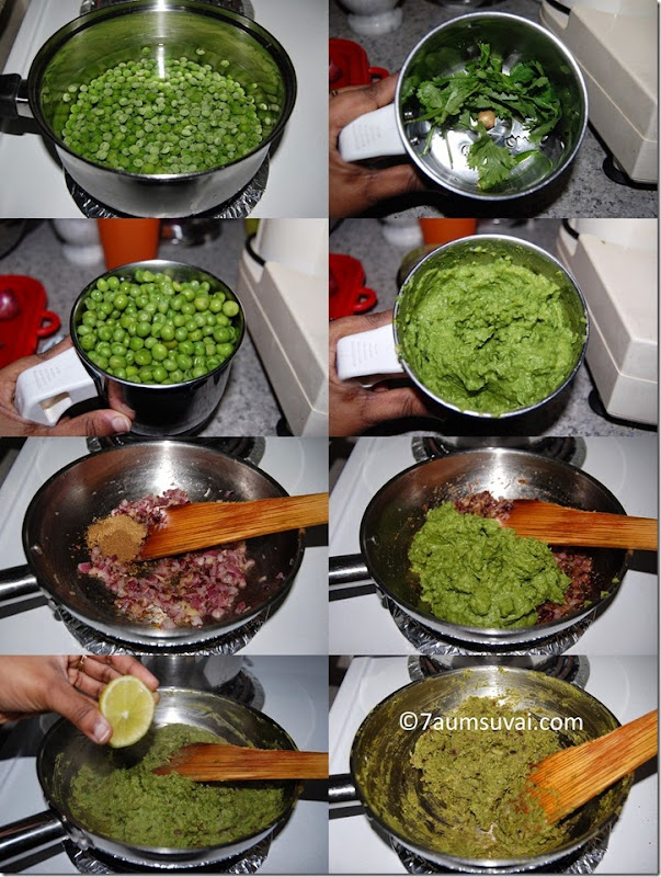 Green peas paratha process 1
