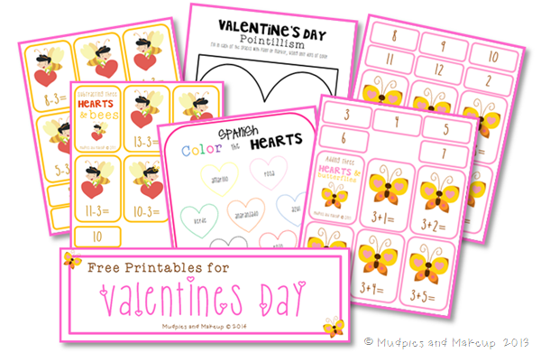 Free Valentines Day Printables Mudpies and Makeup
