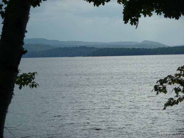 Cranberry lake stormy
