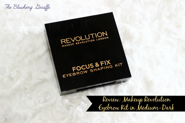 Makeup Revolution Focus & Fix Eyebrow Shaping Kit Medium-Dark review and swatch