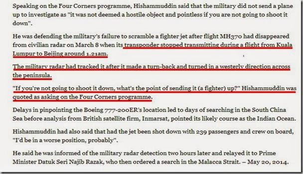 Hishammuddin now says military told to keep an eye on MH370   Yahoo News Malaysia