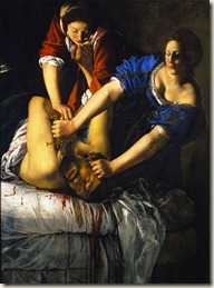 judith tuant holopherne (A.Gentileschi) Museo Nazionale di Capodimonte (1612)