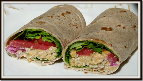Chickpea Tuna Wrap