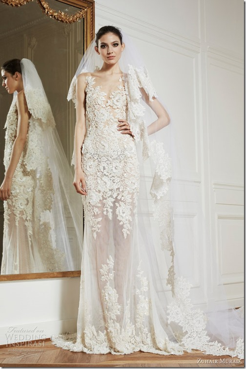 zuhair-murad-wedding-dresses-2013-alexandra-lace-sheath-ball-gown