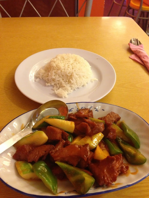 "Sweet and sour ""pork"" - Restoran Vegetarian"