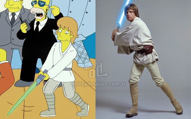 Foto de la version Simpson de Mark Hamill Luke Skywalker