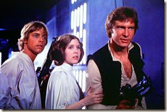 Han, Leia & Luke the heroic trio from the original Star Wars