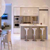 Dapur minimalis cantik gambar desain rumah - Modern kitchen for small apartment ...