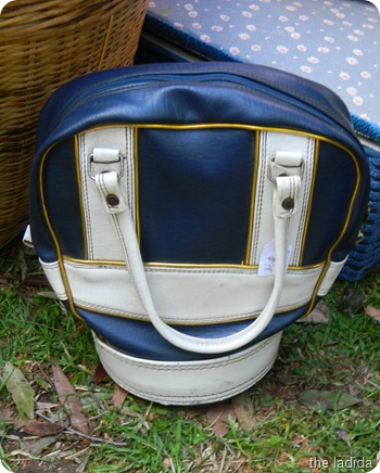 Vintage Blue and White Bag