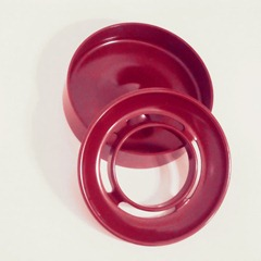 Enzo Mari Lotus ashtray, red