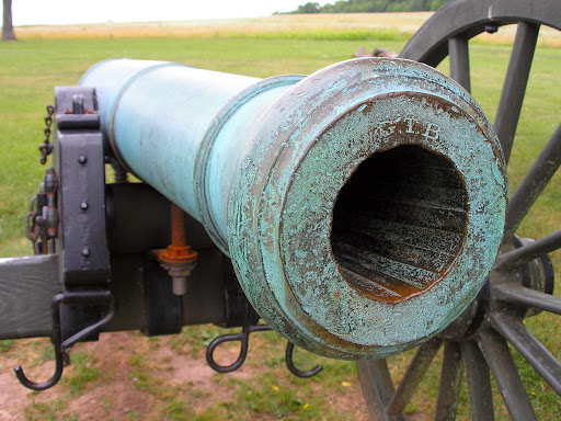 A cannon at the final position of Union Col. Franz Sigel, where he was defeated. This turned the battle's tide in favor of the South. (Photo credit: Jeremy Shreckhise)