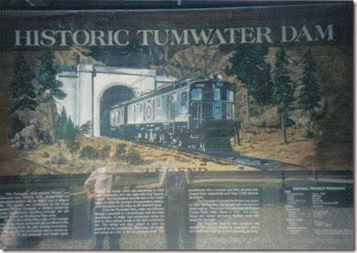 Tumwater Dam Interpretive Sign in 1998