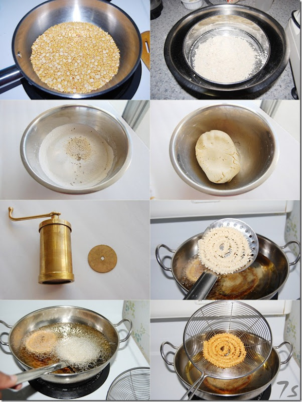 Mullu murukku process