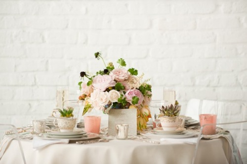Vintage Pink and Silver Tabletop 600x399