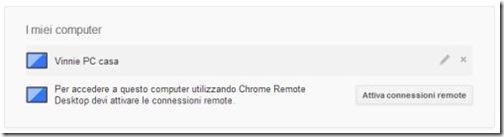 Chrome Remote Desktop accedere in remoto al proprio computer