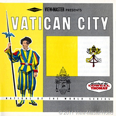 View-Master Vatican City (B178), Booklet Cover