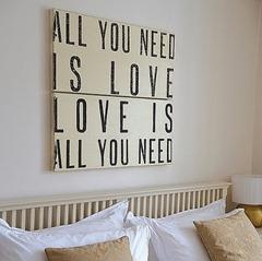 decoraçao beatles placa all you need is love