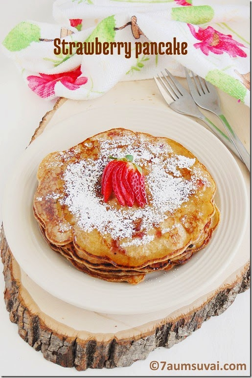 Strawberry pancake