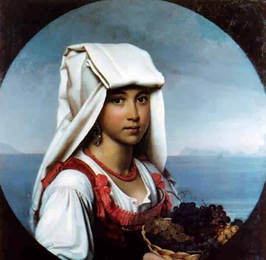 Орест-Адамович-Кипренский--Неаполитанская-девочка-с-плодами