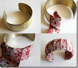 brazalete o pulsera imitacion Anthropologie manualidades moda costura retazos reciclaje reciclar reciclado barato ahorro facil rapido2