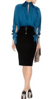 knot neck blouse1
