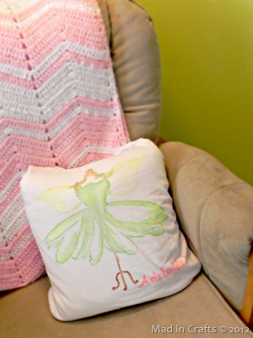 Watercolor Fairy Pillow