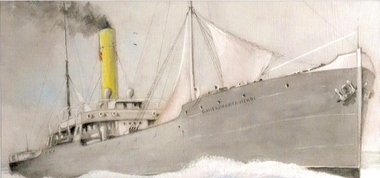 El vapor GANEKOGORTA-MENDI. Cuadro de José Ramón de la Rica. Foto remitida por Juan Mª Rekalde. Nuestro agradecimiento.bmp