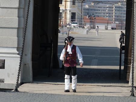 Imagini epoca Romania: paza cetatii