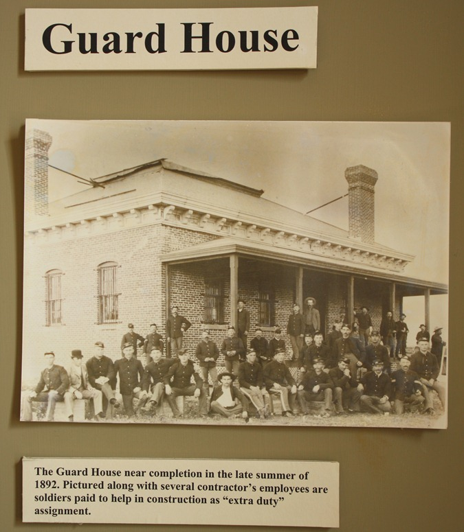An historic phots show the guard house shortly after it was completed in 1892.