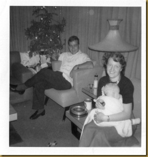 Ed & Boots(Vilma) Reynolds with Denise as baby