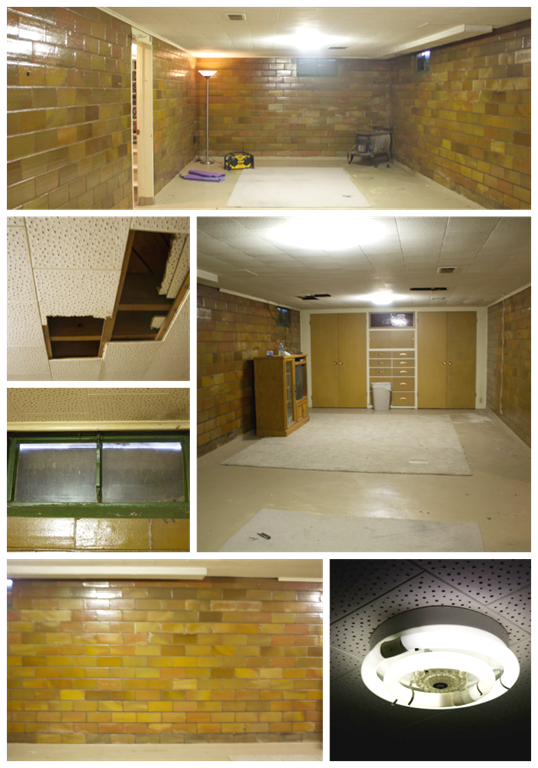 Basement makeover Collage