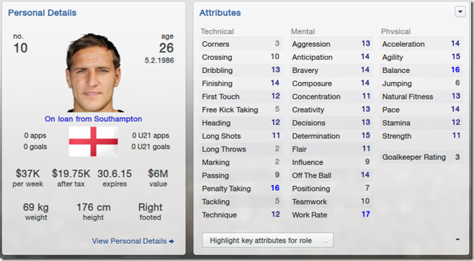 Billy Sharp in Football Manager 2013