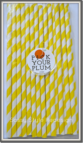a pocket full of sunshine .. pick your plum straws