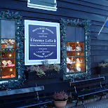 delft blue pottery saense lelie in Zaandam, Noord Holland, Netherlands