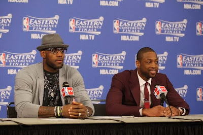 lebron james nba 140524 mia vs ind 29 game 3 LeBron, D Wade and Ray Allen Lead Miamis Comeback in Game 3