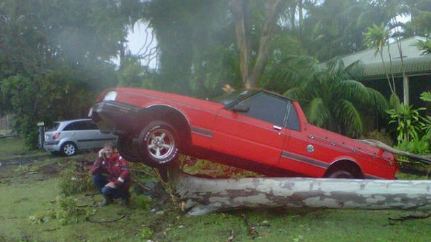 Channel 9's Darren Curtis posted this photo of the devastation caused by a tornado that tore through Bargara, Australia, 26 January 2013. Photo: Channel 9