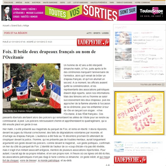 bandièra francesa cremada DDM 13112012