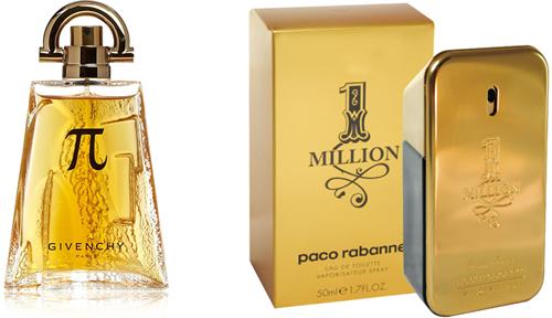 Pi da Givenchy e 1 Million da Paco Rabanne