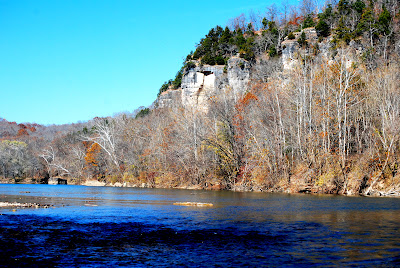 Rock Eddy on the Gasconade River looking toward the Bluff