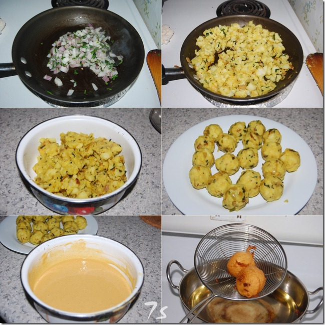 Potato bonda process