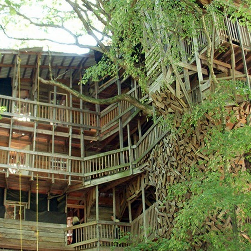 Biggest Treehouse In The World 2013 massive tree house in crosville, tennessee: the largest in the