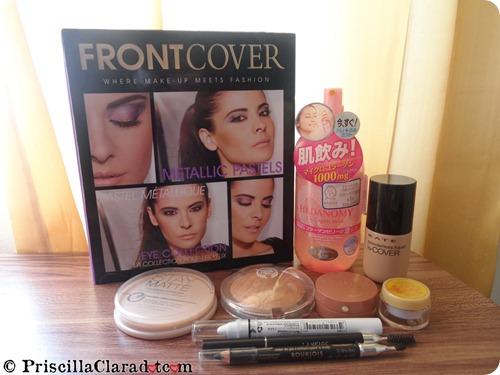 Priscilla peachy makeup look
