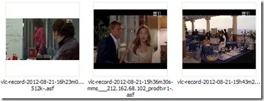 Canale TV in streaming registrato e salvato nel PC in un file video